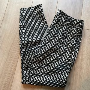 H&M dress pants white and blue size 6